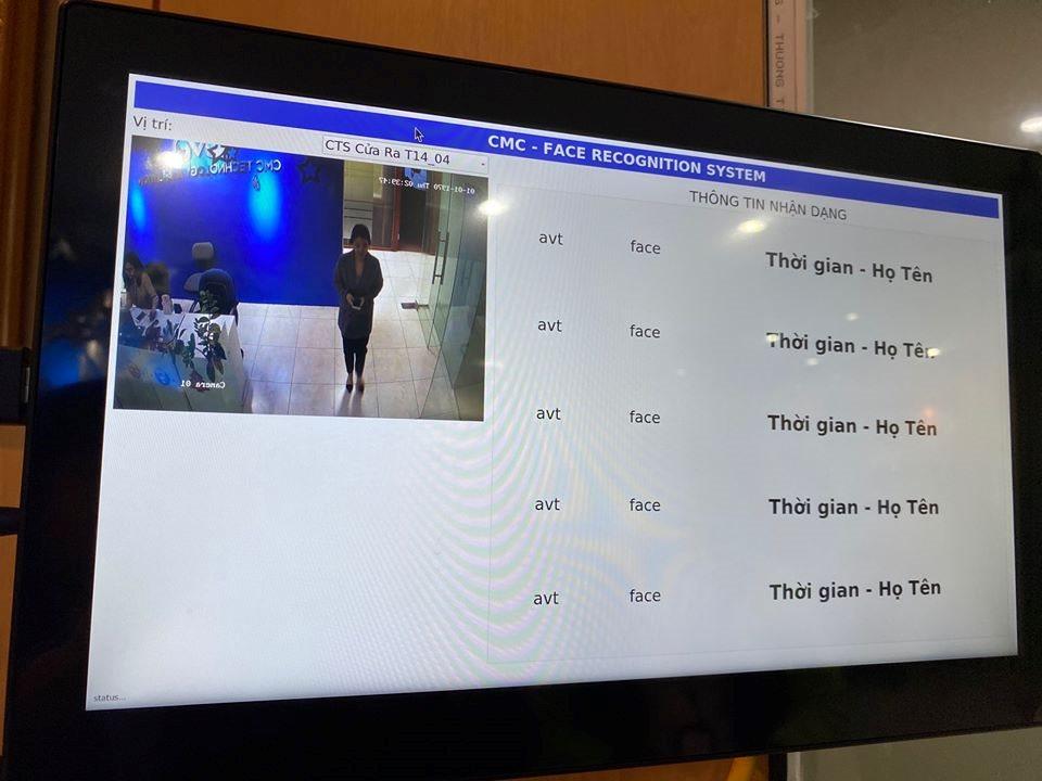 CMC Japanの顔認証システムの実例