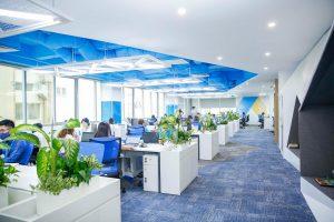 ベトナムオフショア拠点(CMC Global)新オフィスの写真と従業員