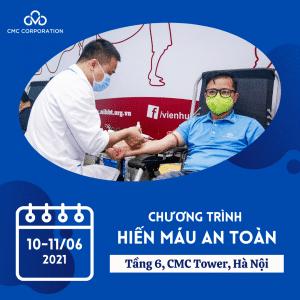 CMC Corpotationの2021年6月献血プログラム